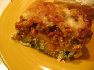 Lasagna serving suggestion